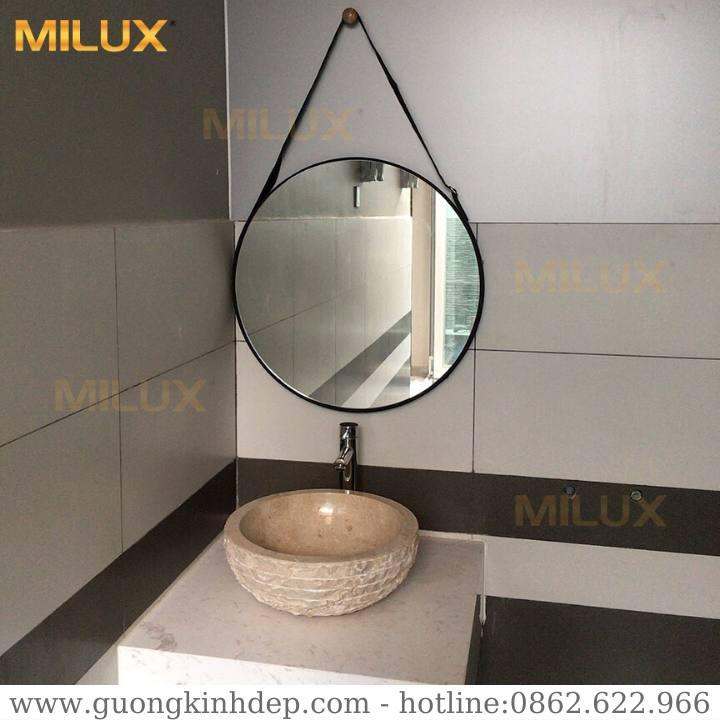 Gương Nhà Tắm Dây Da Cao Cấp Milux ML60-12