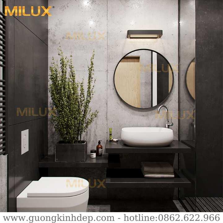 Gương Phòng Tắm Khung Sơn Tĩnh Điện Đen Milux ML60-24