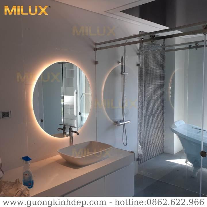 Gương Đèn Led Tròn Phòng Tắm Hiện Đại Milux ML60-23