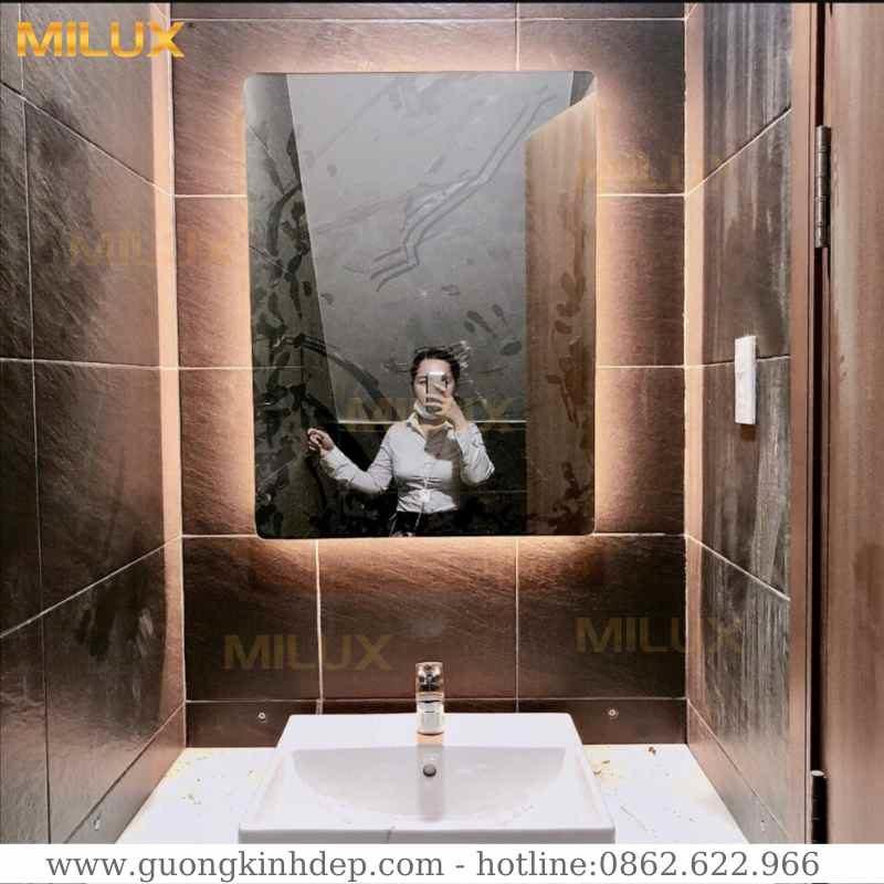 Gương Phòng Tắm Có Đèn Led Hình Chữ Nhật Milux ML79-29