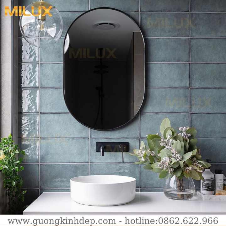 Gương Phòng Tắm Khung Gỗ Composite Đẹp Milux ML68-26