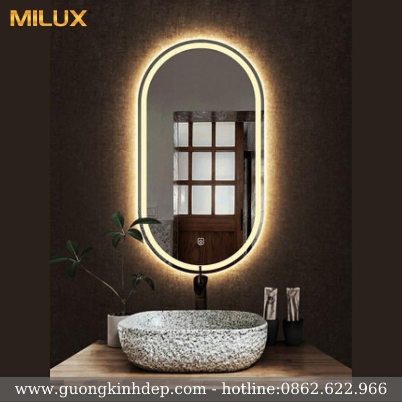 Gương Phòng Tắm Cao Cấp Hình Bầu Dục